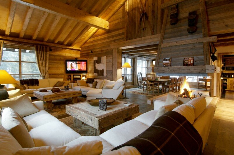 un salon d co montagne pour les amoureux des chalets de la d co et de la brocante. Black Bedroom Furniture Sets. Home Design Ideas