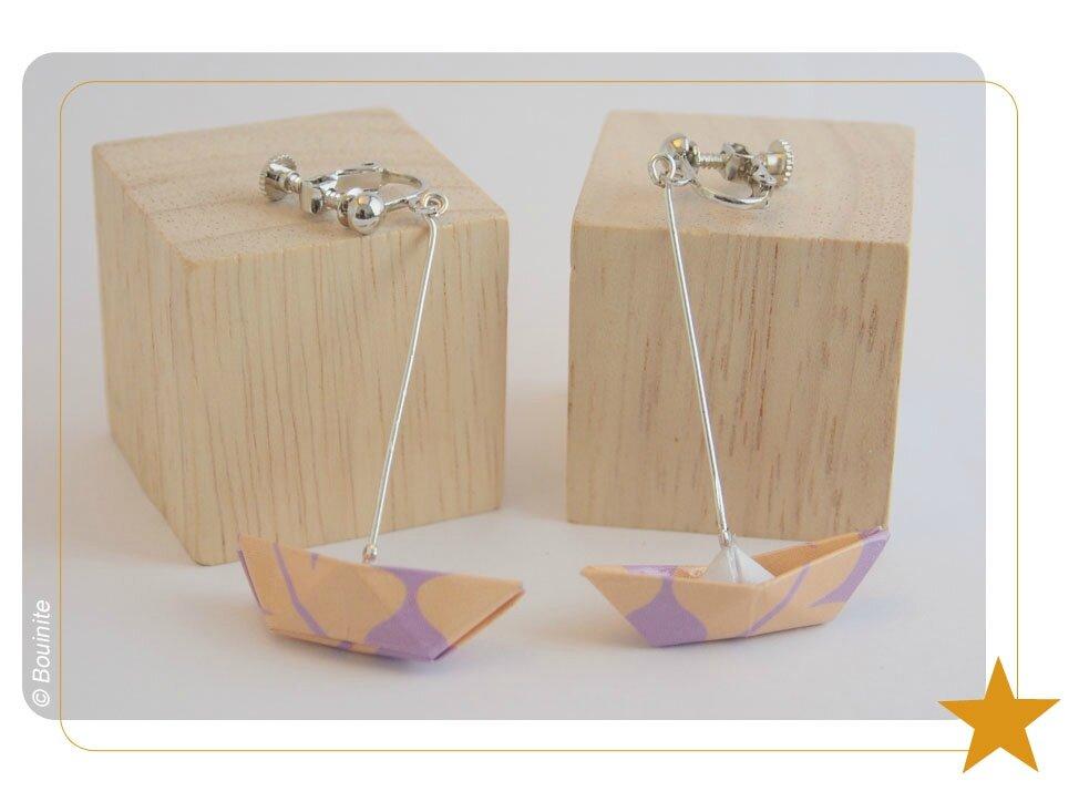 20140306 BO origami bateau rose