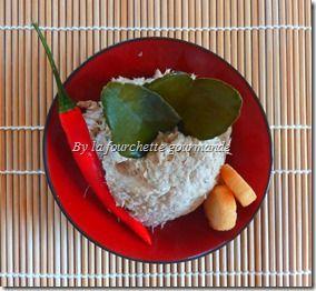 Mousse de maquereau aux saveurs asiatiques