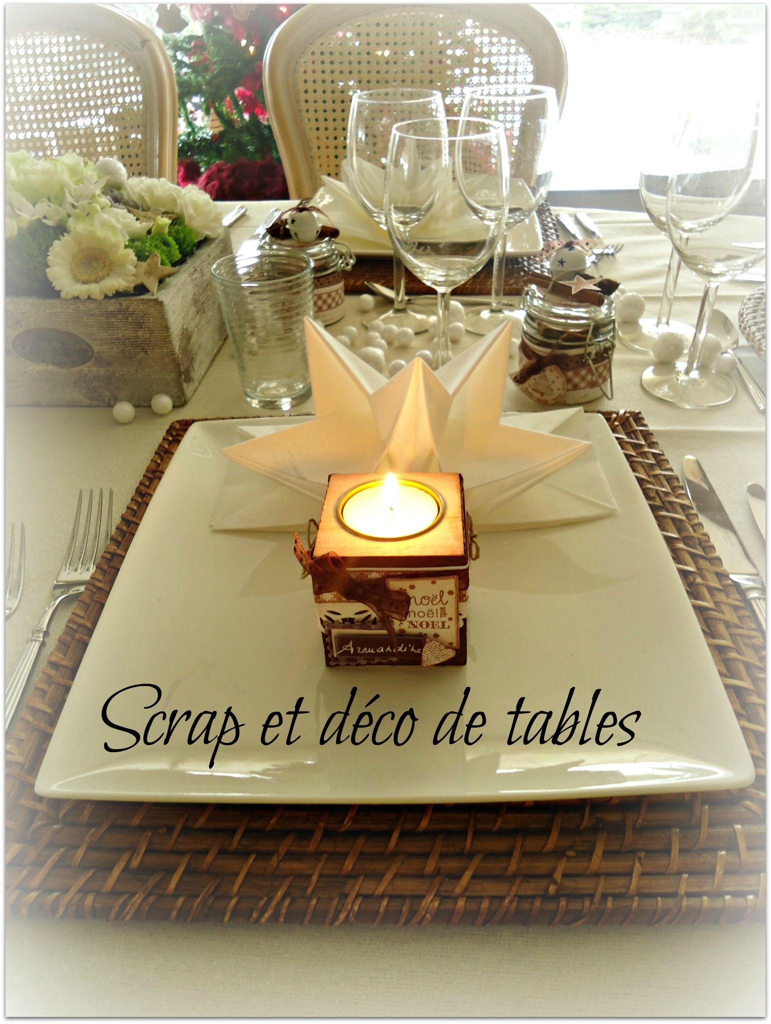 #C0960B DECO DE TABLE DE NOËL BLANC/BRUN Scrap Et Déco De Tables 6185 decoration de table de noel en scrap 1542x2048 px @ aertt.com