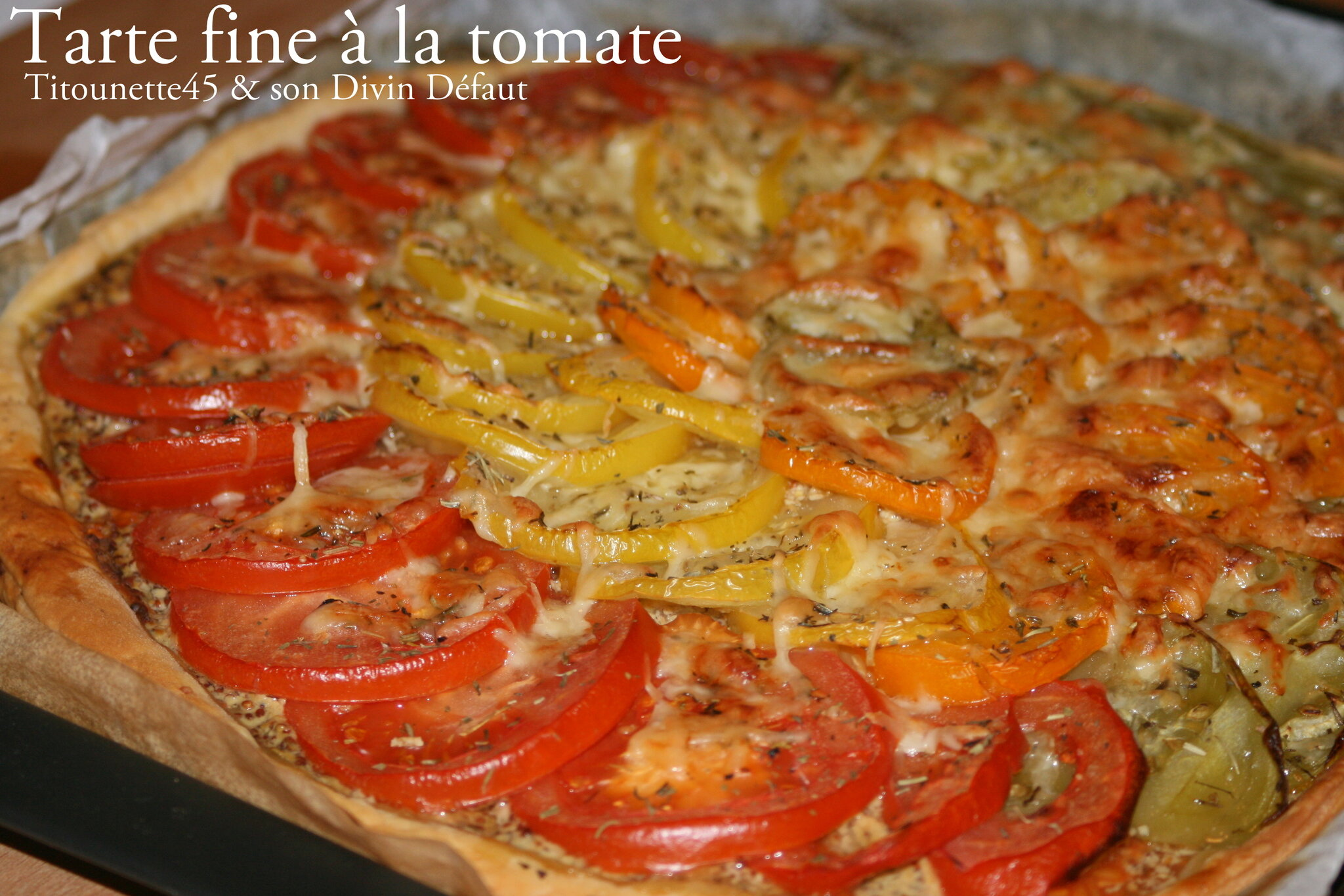 Tarte fine tomate Titounette45