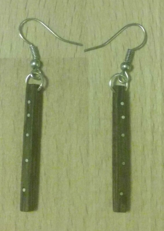Boucles Incrustation rond metal