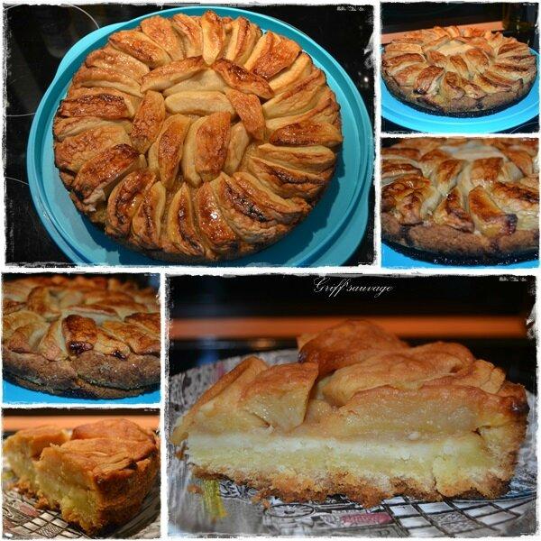 tarte pommes sur broyé du poitou