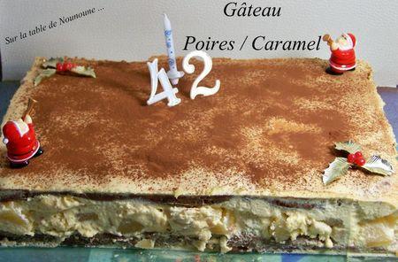 Gâteau poires caramel 1