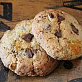 Mes cookies aux abricots secs et chocolat côte d'or.