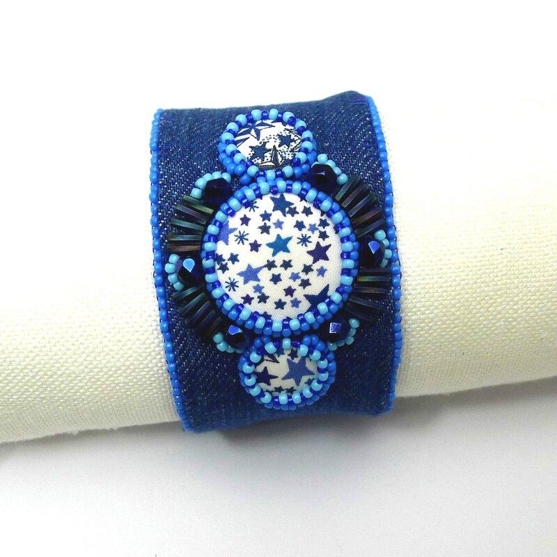 bracelet jean et liberty adelajda perles brodes