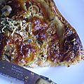 Tarte à la tomate et a la mozzarella