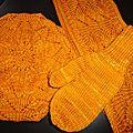 Beret et foulard Meret - Mitaines classiques