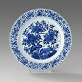 A Blue and White Dish, Kangxi mark and of the period (1662-1722)