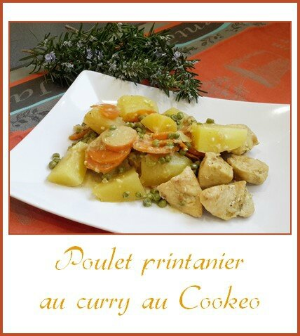 Poulet printanier au curry, au cookeo