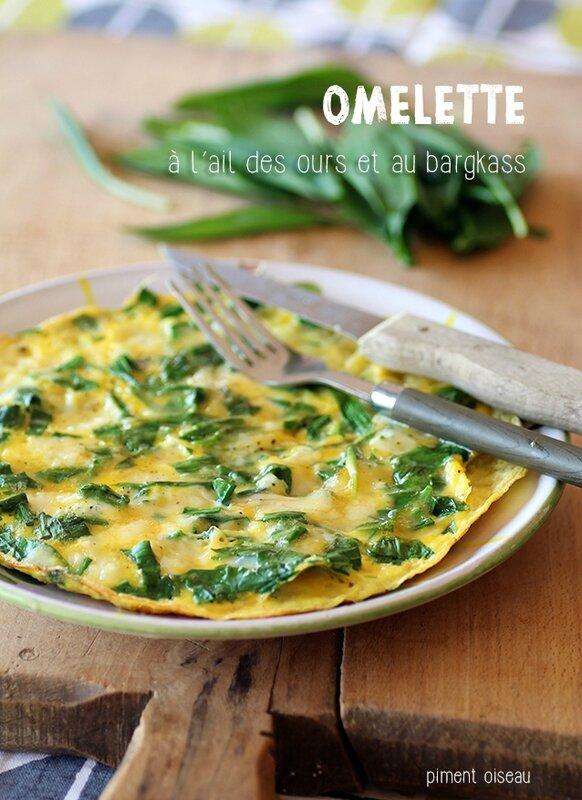 omelette à l'ail des ours et au bargkass
