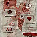Page de septembre pour le livre textile