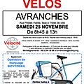 Bourse aux vélos à avranches samedi 25 novembre 2017 + sondage sur la pratique du vélo à avranches