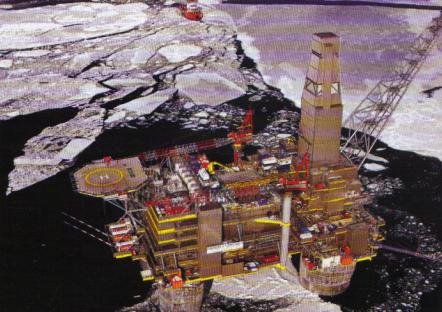 Plate-forme offshore de Sakhaline