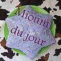 Gâteau tendresse, chocolat au lait & violette