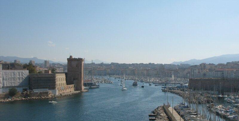Marseille, le Pharo, entrée du port