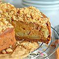 Gâteau aux pommes façon crumble #vegan