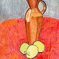 La cruche et les citrons.