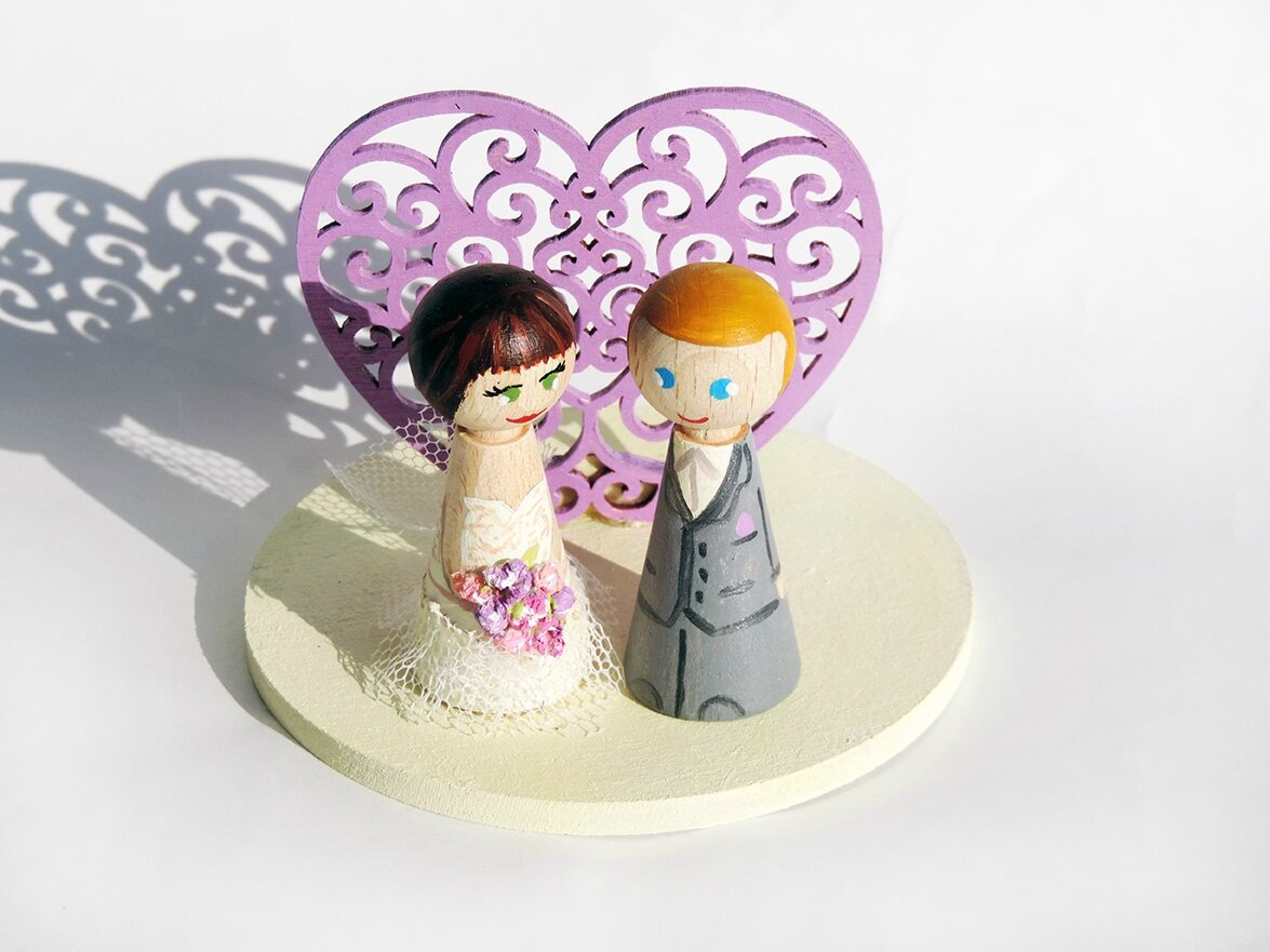 Figurines personnalisées mariage Shabby Chic