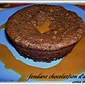FONDANT CHOCOLAT / SON D'AVOINE ( sans beurre )