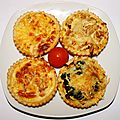 Petites quiches au choix !