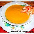 Veloute de carottes au carvi et langoustines
