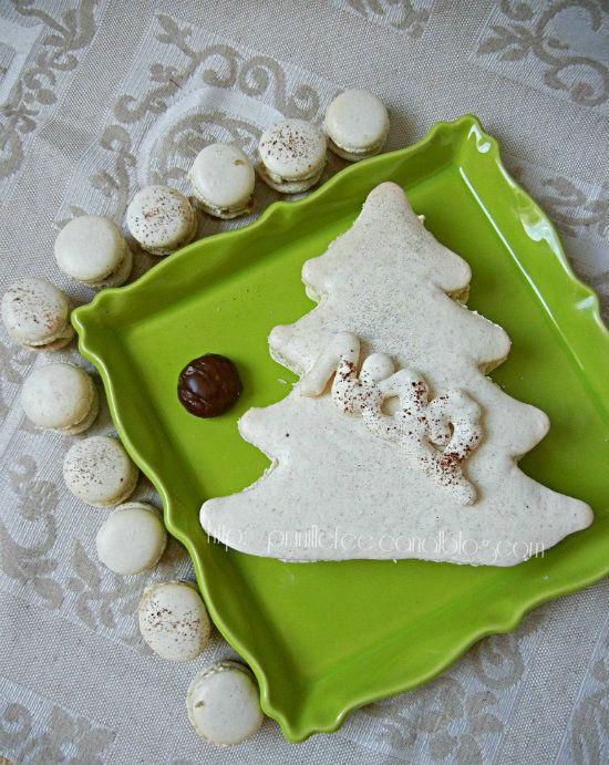 macaron sapin de Noël