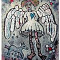 angel's blue heart 38x46