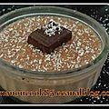 Panna cotta au chocolat et à la noix de coco...