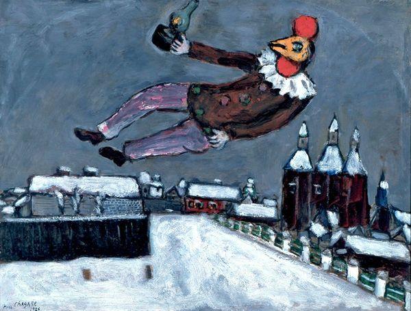 chagall homme-coq au-dessus de vitebsk