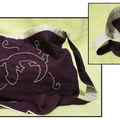 sac iguane violet et beige