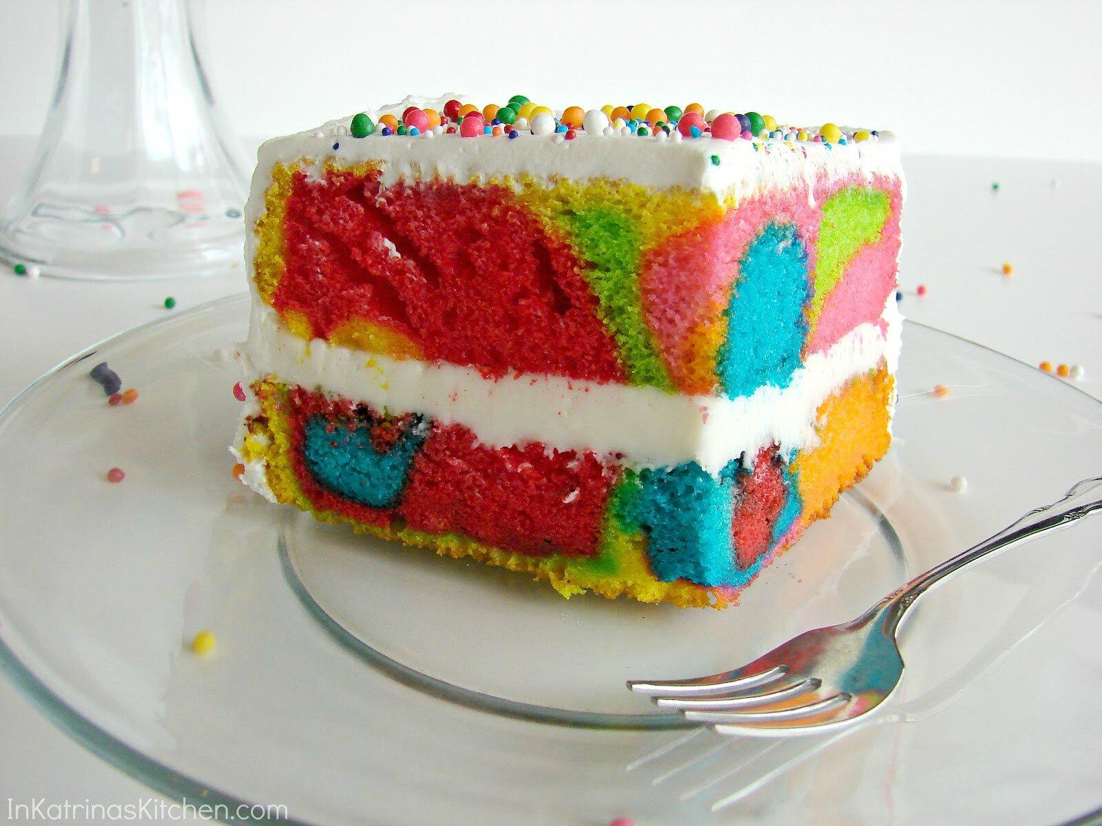 Rainbow cake avec gateau au yaourt