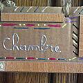 Plaque de porte en carton