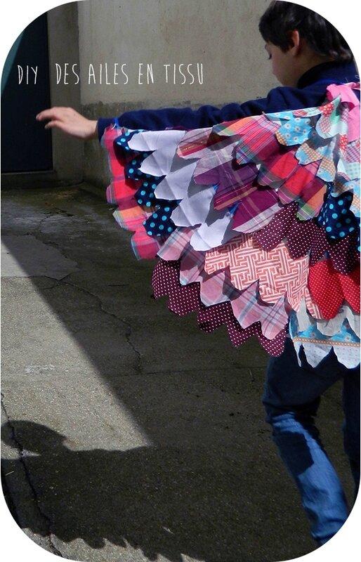 ailes en tissu,accessoire de déguisement,enfant,DIY,actvité enfant,couture 3 blog
