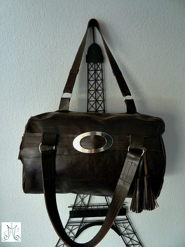 Mag Attack - Sac en cuir marron - Julie14