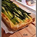 TARTE AUX ASPERGES & POMMES DE TERRE - TARTA A LOS ESPARRAGOS & PAPAS 