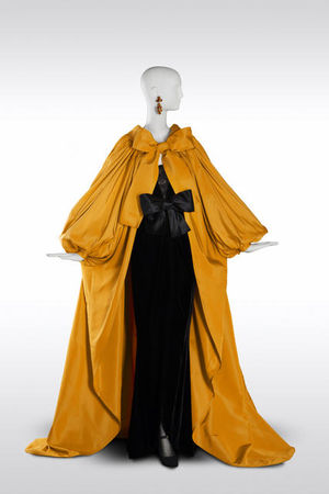 Yves_Saint_Laurent__Long_evening_ensemble_yellow_domino_coat