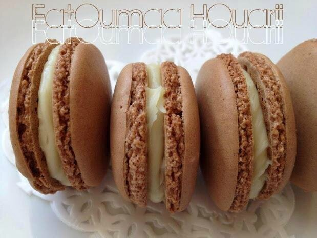 Macarons Chocolat Ganache Chocolat Blancs