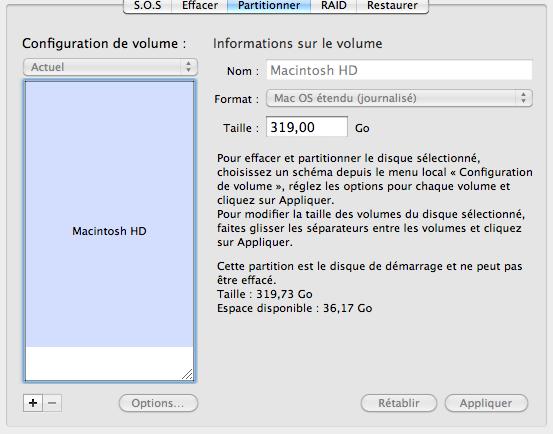 Comment partitionner un disque de stockage sur mac mon for Fenetre utilitaire mac