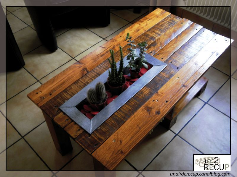 Idee de table basse originale for Idee table basse recup