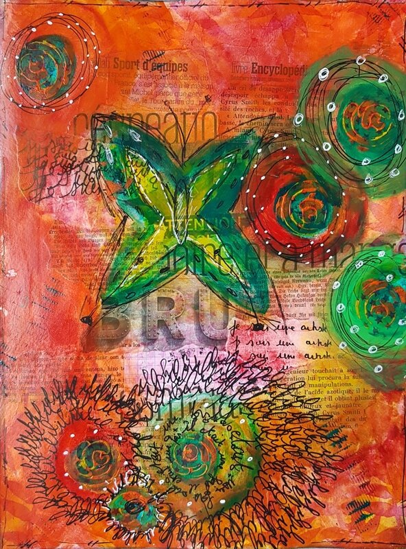 5-Mixed media Claudette 1