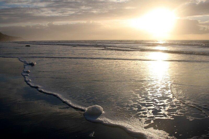12-Normandie - Etretat, plage, coucher de soleil_0582