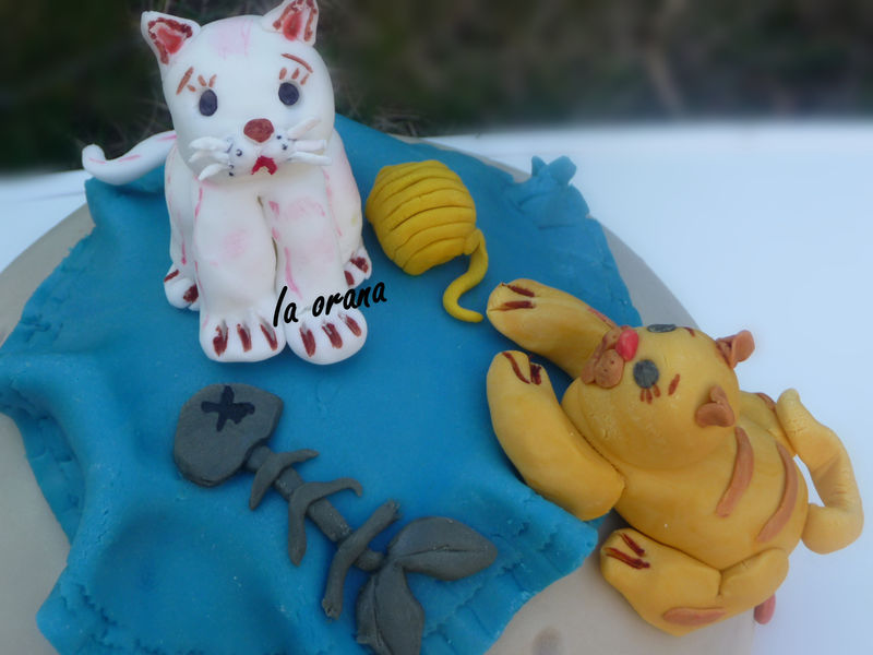 Gateau poisson chat