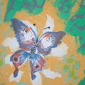 Papillon sur papier