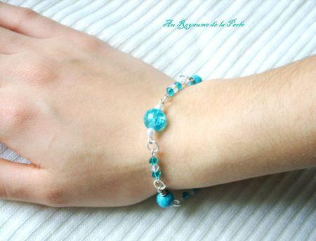 Bracelet turquoise détail
