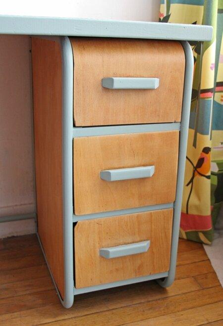 bureau-vintage-vert
