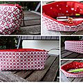trousse crayons rouge