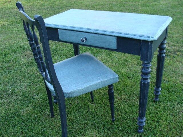 table et chaise vintage