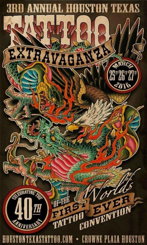 Houston au Texas Tattoo Extravaganza 25-27 Mars 2016