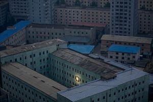 Corée du Nord Portrait illuminé de Kim Il sung photo Sagoli
